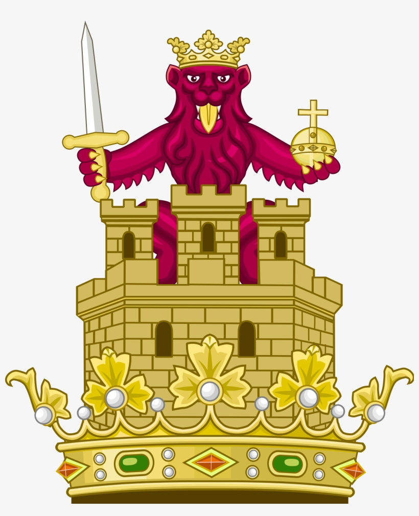 Royal Crest Of The Crown Of Castile - Royal Crown Of Spain, transparent png #438928