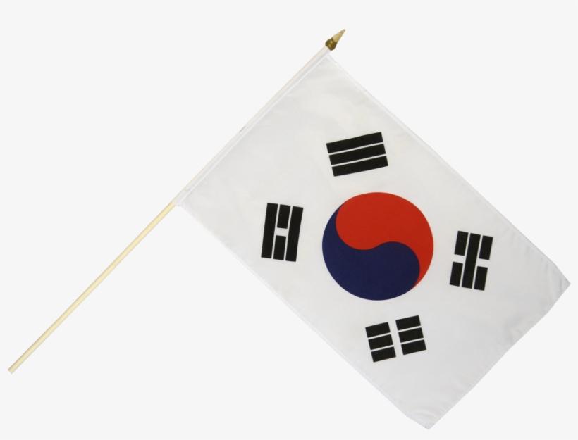 South Korea Hand Waving Flag - South Korean Flag Png, transparent png #439915
