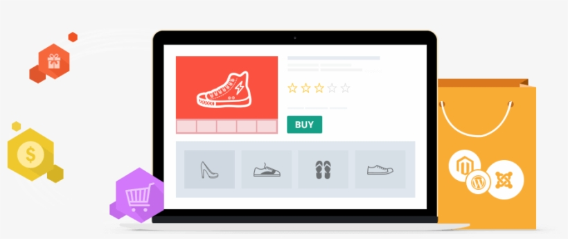 Ecommerce Website Design Classy And Lucrative - E Commerce Website Development, transparent png #4301408