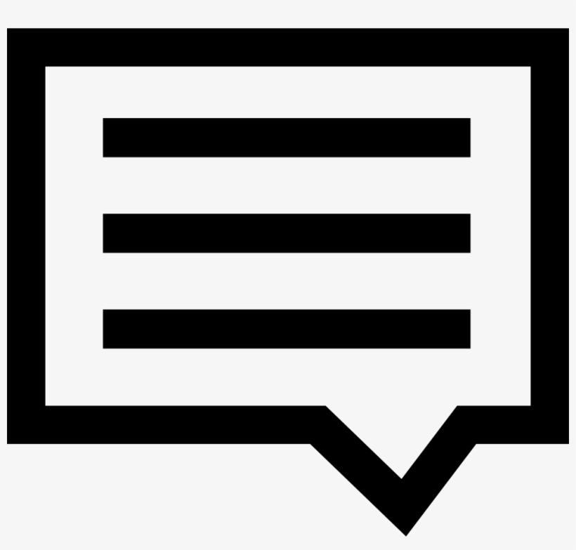 Comment Comments - Mensaje De Texto Icono, transparent png #4303312