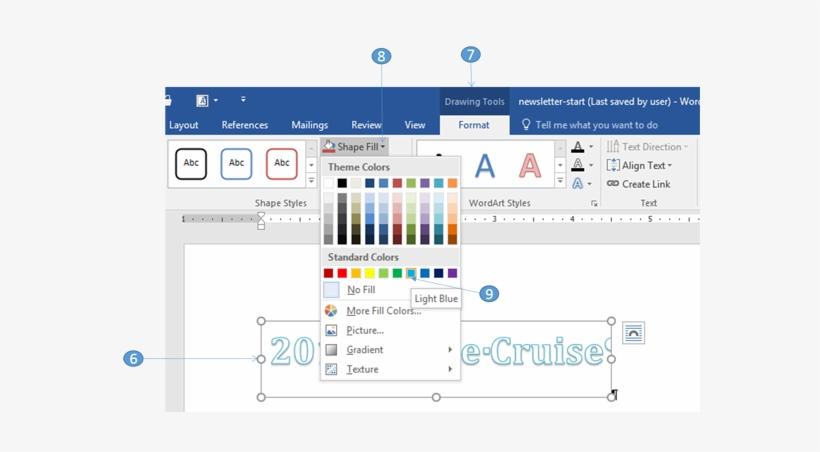 Formatting Wordart - Word Art Styles In Word 2016, transparent png #4312821