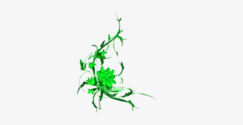 Florales En Vectores - Flowers Design Green, transparent png #4316489