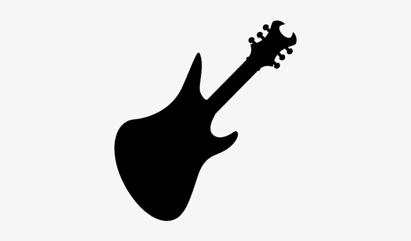 Bass Guitar Black Silhouette Vector Guitarra Electrica Negra