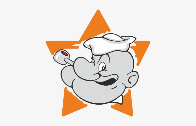 "Popeye™ Logo Vector - Popeye The Sailor Vynil Car Sticker 4"" X 4"", transparent png #4319484"
