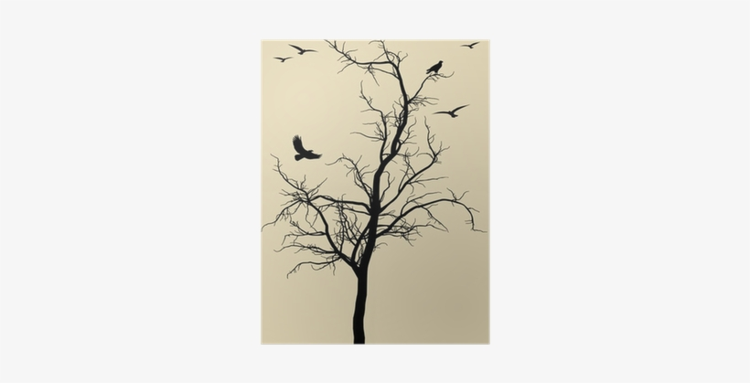Dead Tree With Birds Tattoo, transparent png #4321909