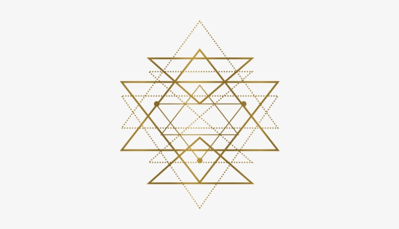 Sri-yantra - Gold Geometric Shapes Png - Free Transparent