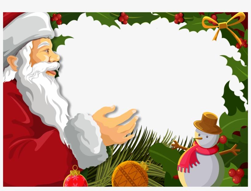 Http - //marcosparafotosgratis - Blogspot - Mx/2011/11/feliz - Christmas Photo Frame Template, transparent png #4328393
