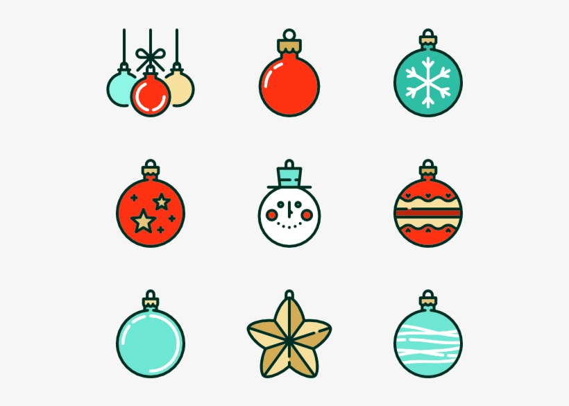 Linear Christmas Baubles - Christmas Decoration Icon, transparent png #4332003