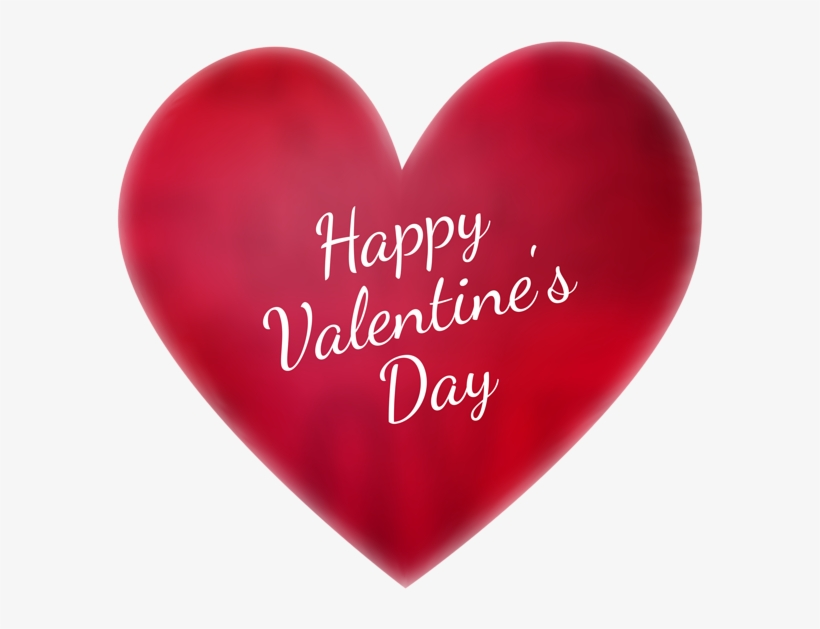 Happy Valentines Day Png Image With Transparent Background - Happy Valentine's Day Heart, transparent png #4332297