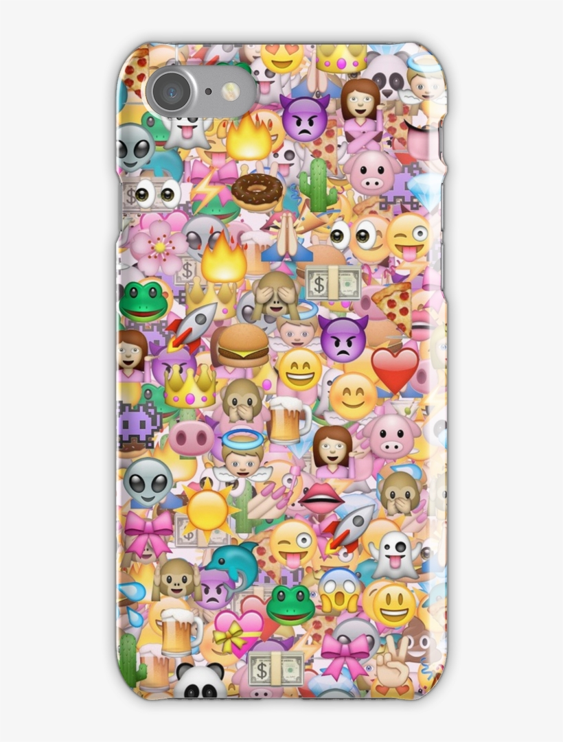 Happy Emoji Pattern Iphone 7 Snap Case - Cute Emoji Wallpaper For Iphone, transparent png