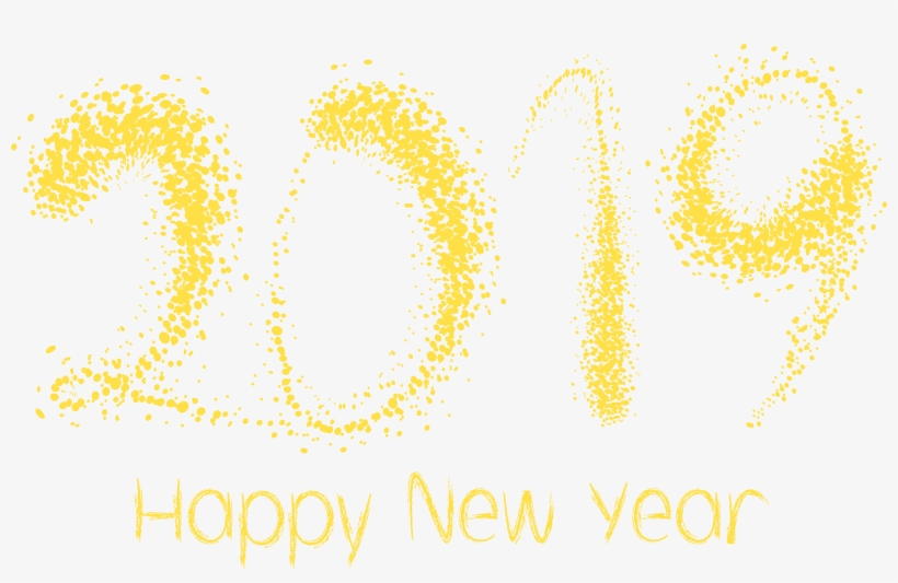 Happy New Year Clipart 2019, transparent png #4336105