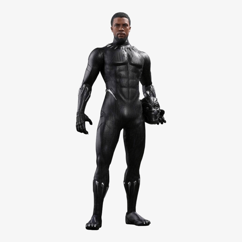 Black Panther - Black Panther Movie New Hot Toys, transparent png #4340313