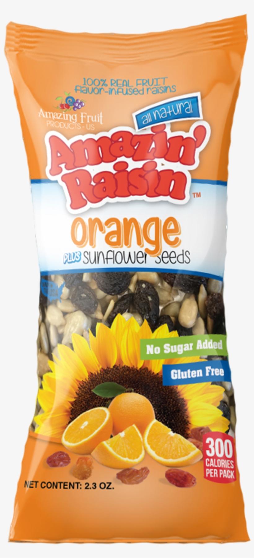 Orange Plus Sunflower Seeds 100% Real Fruit Flavor-infused - Fruit, transparent png #4344600