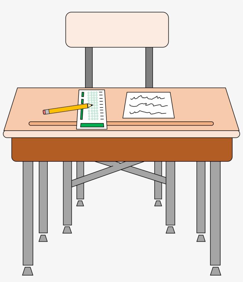 Student Desks For School Clipart - Desk Clipart, transparent png #4346947