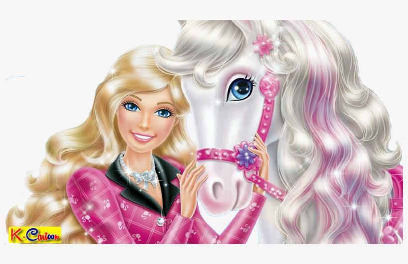 Gambar Kartun Barbie Dengan Kuda Putih Vektor New Barbie Cartoon