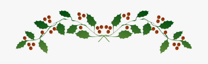 Holly Lights Png Picture - Christmas Holly Top Border, transparent png #4348199