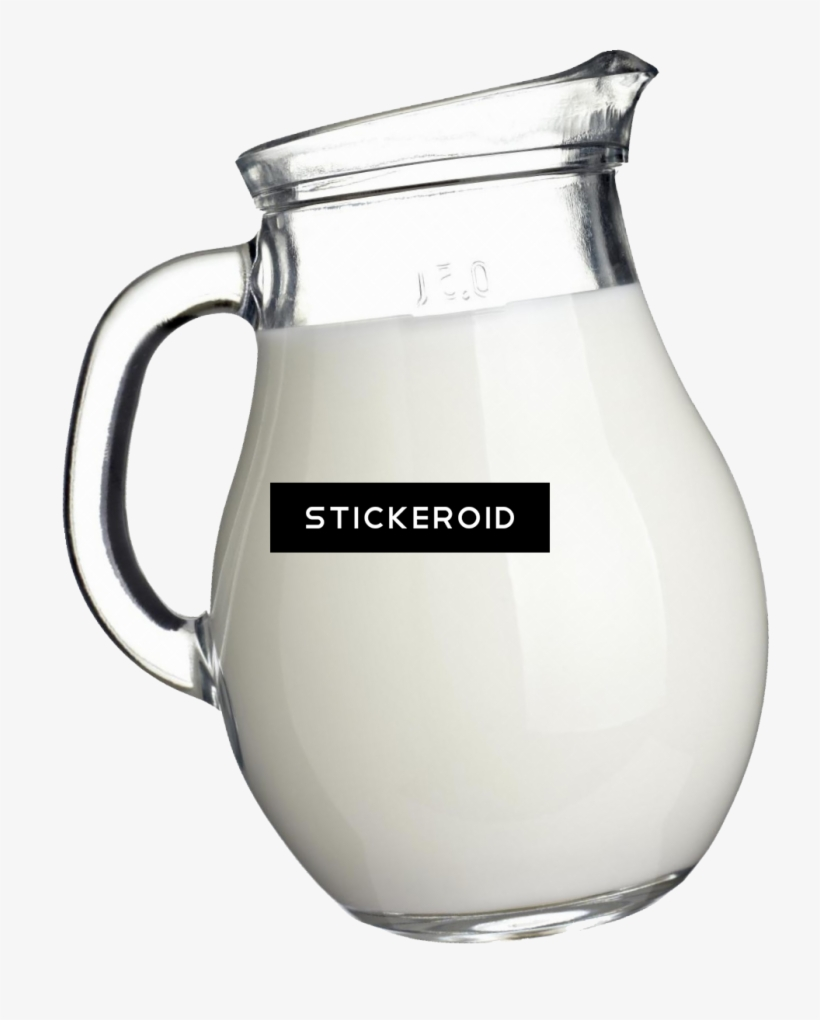 Milk Splashes Food - Milk In A Pitcher, transparent png #4356200