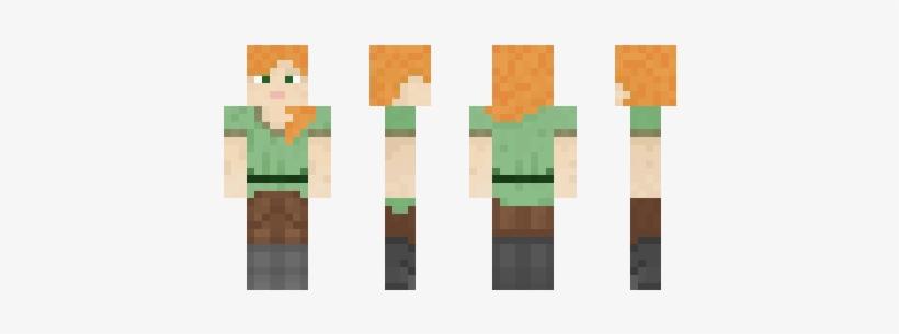 Minecraft Skin Noob Alex Free Transparent Png Download Pngkey