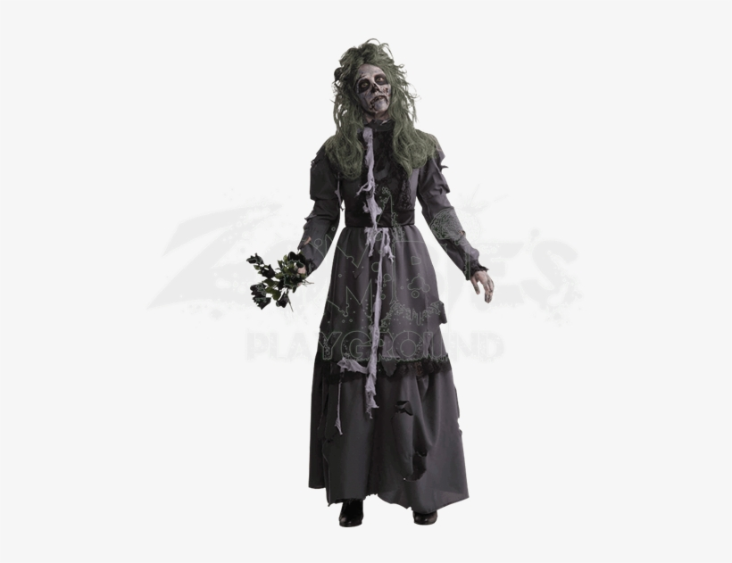 Zombie Lady Costume - Zombie Lady Adult Costume, transparent png #4363809