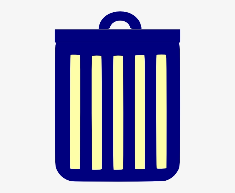 How To Set Use Blue Trash Can Svg Vector, transparent png #4364873