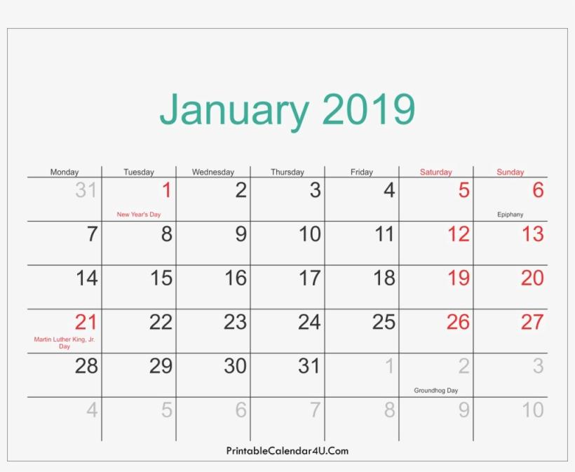 2019 Calendar Background Png Monthly Free Printable 2019 Calendar