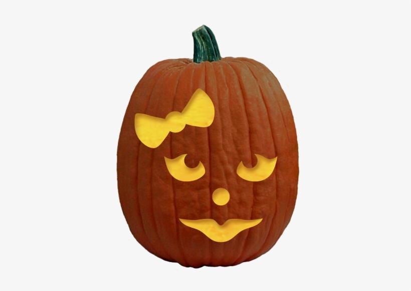 Pumpkin carving patterns easy girl pumpkin carving free