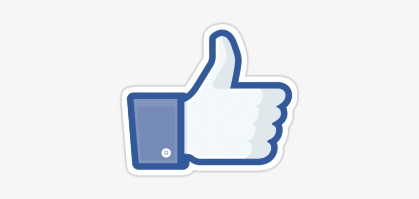 Facebook Like Thumbs Up Sticker - Like Logo Youtube Transparent, transparent png #4368956
