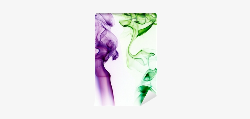Purple And Green Smoke On White Background Wall Mural - Fondos Blanco Y Morado, transparent png #4372841