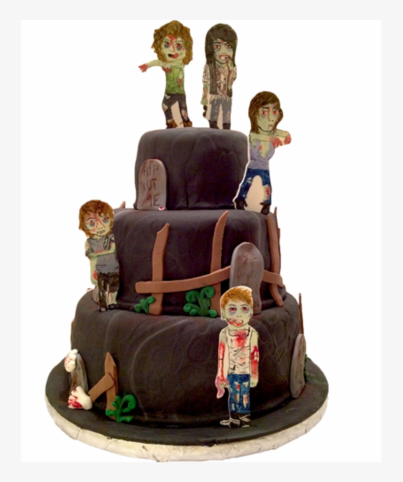 Marvelous Halloween Birthday Zombie Cake Gumpaste Toppers Hand Halloween Personalised Birthday Cards Veneteletsinfo