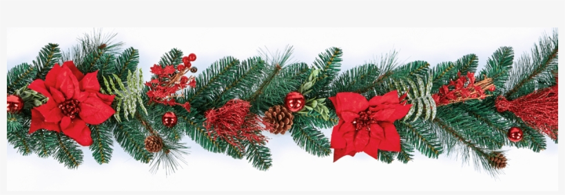 Red Poinsettia Christmas Garland Home Decoration Wreaths