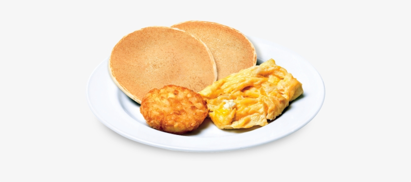 Scrambled Eggs - Eggs And Pancakes Png, transparent png #4375557