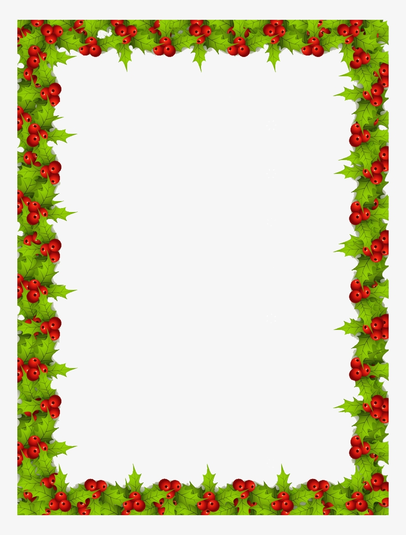 Christmas Border Png Free - Christmas Frame Png, transparent png #4376022