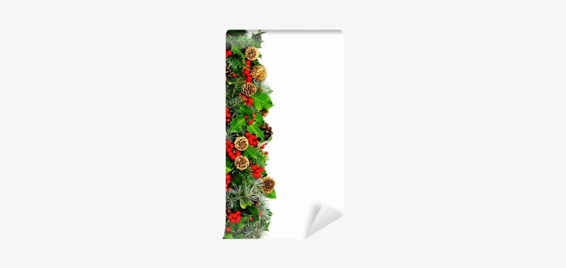 Christmas Holly Border, transparent png #4376499