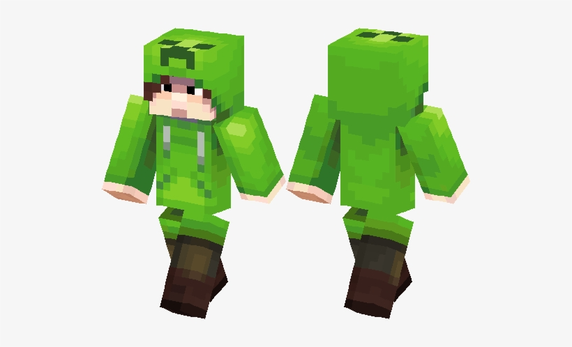Creeper Skin Png Clip Freeuse Library - Skin De Creeper Minecraft, transparent png #4377058