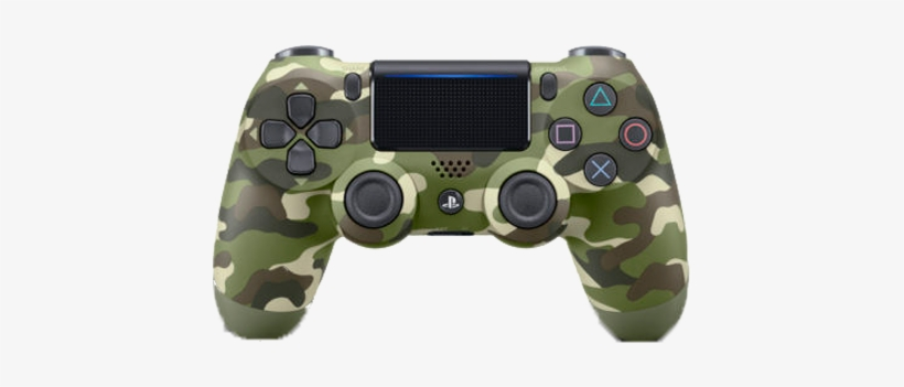 Green Camo Slim Ps4 Controller - Dualshock 4 Wireless Controller For Sony Ps4 - Green, transparent png #4380862