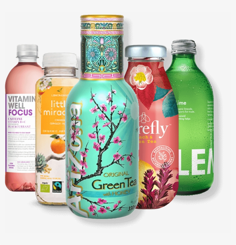 Discover Our Drinks - Arizona Green Tea With Honey Ice Tea 500ml, transparent png #4381137