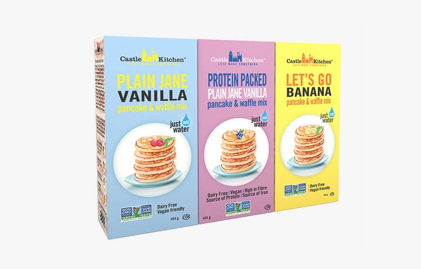 Vanilla, Protein, Banana Pancake Mix - Castle Kitchen Pancake & Waffle Mix, transparent png #4384161