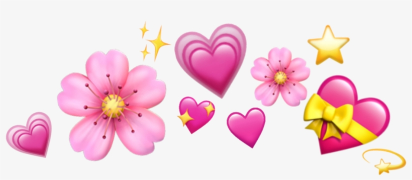 Emoji Crown Hearts Emojis Tumblr Icon Sticker Janaina - Emoji, transparent png #4390497