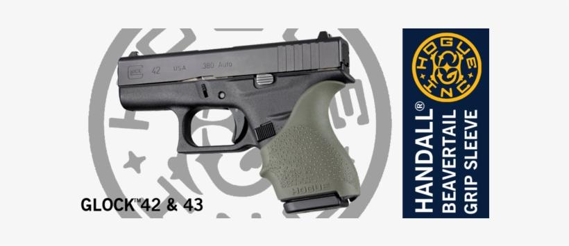Hogue Handall® Beavertail Grip Sleeve For Glock® 42, - Hogue Beavertail Grip Glock 43, transparent png #4391094