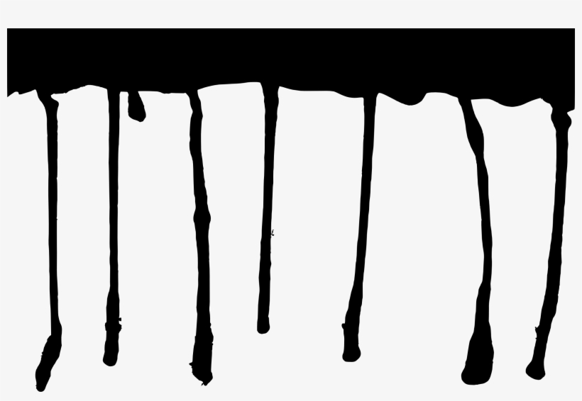 Free Download - Black Paint Dripping Png, transparent png #4394007