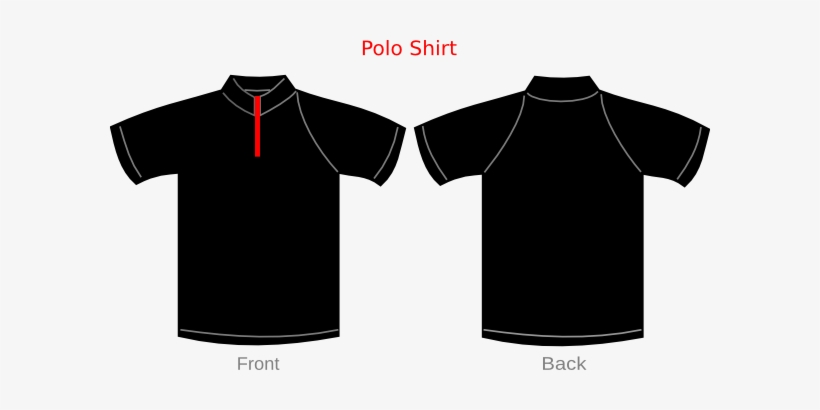 Small - Polo T Shirt Template, transparent png #4397716