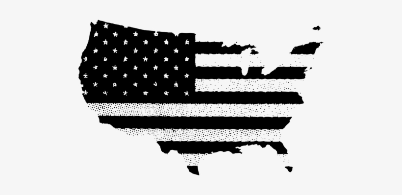 Usa Flag Clipart United States Of America Flag Of The - Usa Flag Map Vector, transparent png #440853