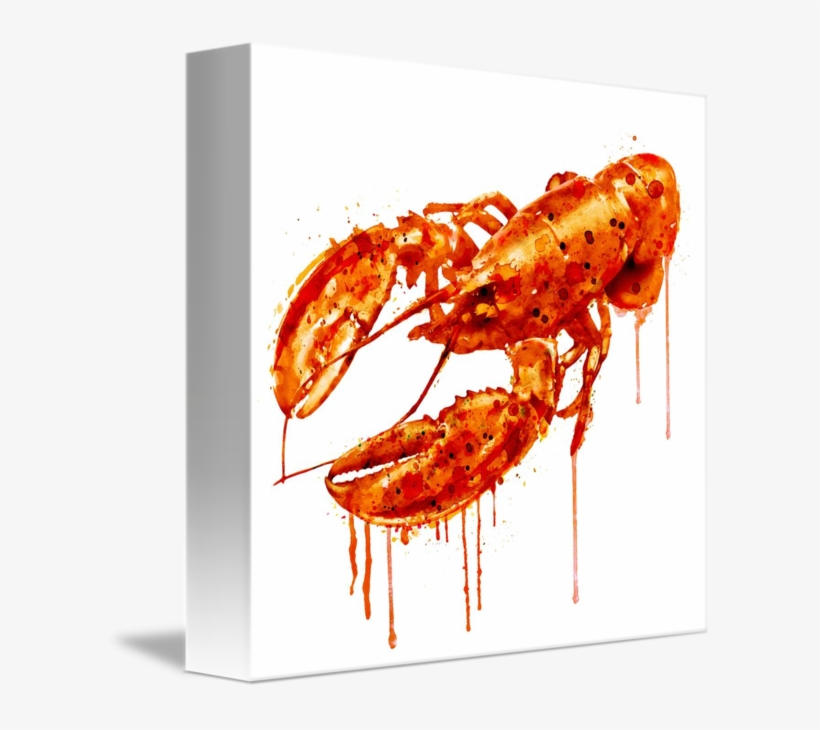 """""""crayfish Watercolor Painting"""" By Marian Voicu, Bucharest - Watercolor Painting, transparent png #441135"""