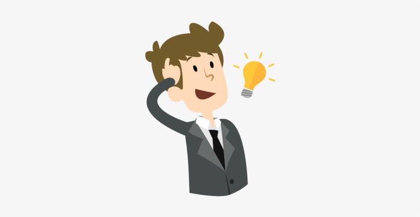 Smart-guy - Smart Man Cartoon Png, transparent png #441903