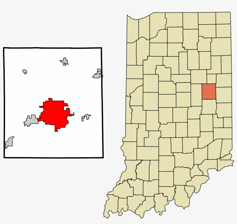 Open - Delaware County Indiana Outline, transparent png #442760