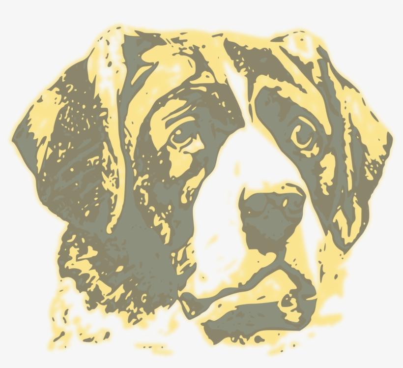 Vintage Dog - Dog Face Portrait T-shirt, transparent png #443038