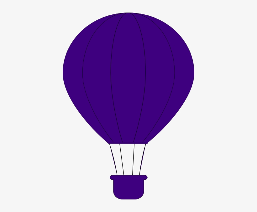 Png Freeuse Download Hot Air Balloon Clipart Purple - Purple Hot Air Balloon Clipart, transparent png #443693