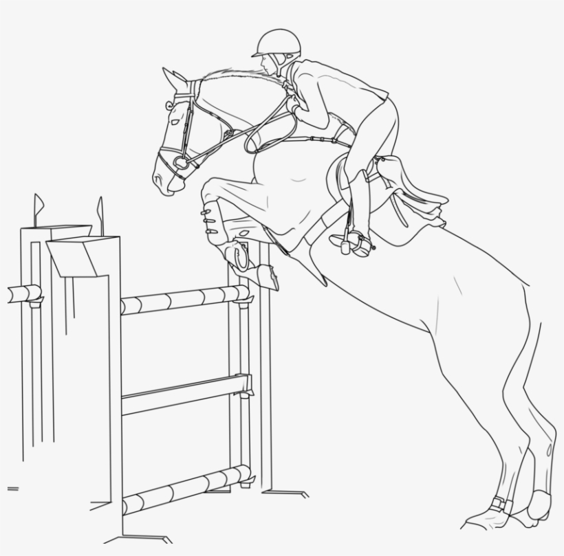 horses jumping coloring pages - photo#7