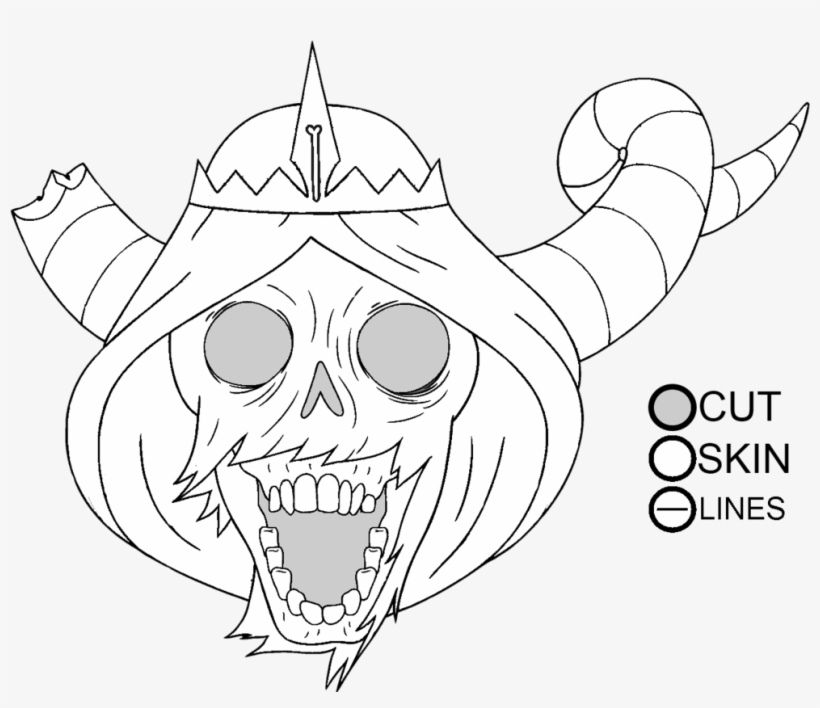 28 Collection Of Adventure Time Lich Drawing - Adventure Time The Lich Drawing, transparent png #444428