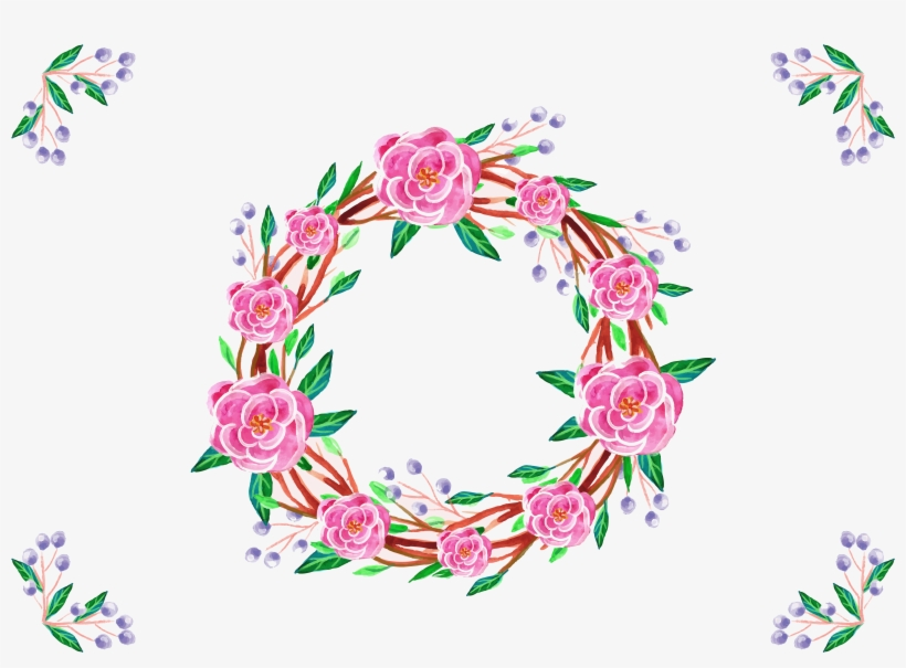 Jpg Transparent Download Japanese Flower Watercolor - Border Design With Calligraphy, transparent png #444718